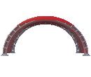 Арочный шатёр 8х3 — 24 м² Схема 1