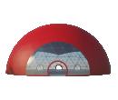 Сферический шатер диаметр 35 м Схема 1