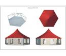 Шестигранный шатёр Римини (Диаметр 10 м) Схема 5