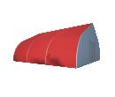 Тентовый ангар 15х15 Схема 1