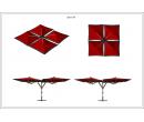 Зонт Quatro 10x10 Схема 1
